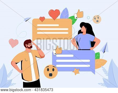 Digital Communication Etiquette And Proper Writing Style Tiny Person Concept. Social Standard For Re