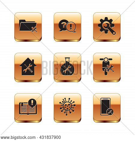 Set Folder Service, Interesting Facts, Bacteria, Bioengineering, House, Wrench And Gear, Mobile And