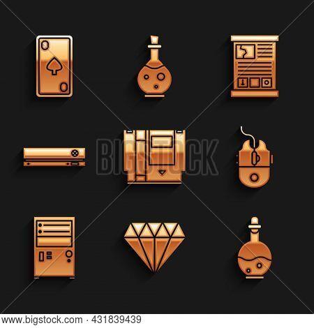 Set Cartridge, Diamond, Bottle With Magic Elixir, Computer Mouse Gaming, Video Game Console, Game Gu