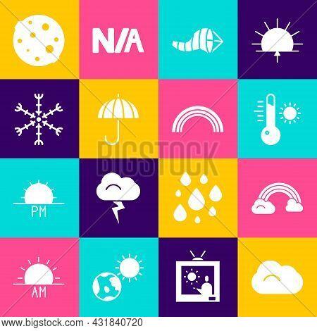 Set Cloud, Rainbow With Clouds, Meteorology Thermometer, Cone Meteorology Windsock Wind Vane, Umbrel