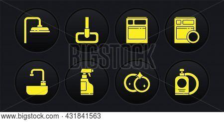 Set Washbasin With Water Tap, Kitchen Dishwasher Machine, Spray Bottle Detergent Liquid, Washing Dis