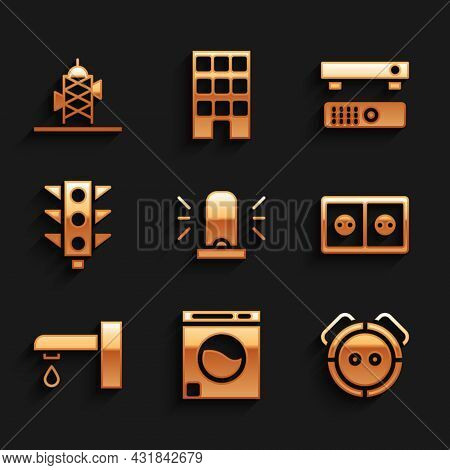 Set Flasher Siren, Washer, Robot Vacuum Cleaner, Electrical Outlet, Water Tap, Traffic Light, Multim