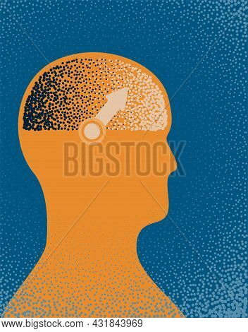 An Illustration Of The Silhouette Of A Person With A Compass Needle In Their Head Depicting Morals A