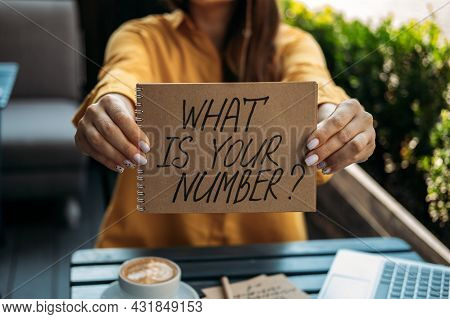 Numerology Numbers Concept. Numerology Calculate Life Path And Destiny Numbers. Female Numerologist