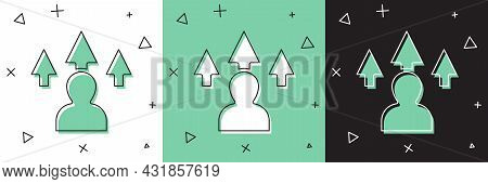 Set Web Design And Front End Development Icon Isolated On White And Green, Black Background. Vector