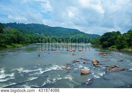 A River Passing Through Thick Rainforest At Day Time Photo, Nature Photography, Beautiful Riverscape