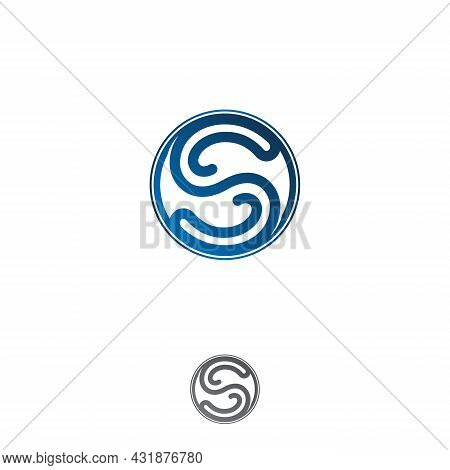 Initial S Letter Symbol Vector Template Design. Linked Letter S Symbol Design.vector Illustration Ep