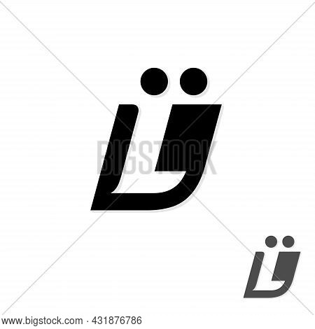 Initial Ul Letter Symbol Vector Template Design. Linked Letter Ul Symbol Design.vector Illustration