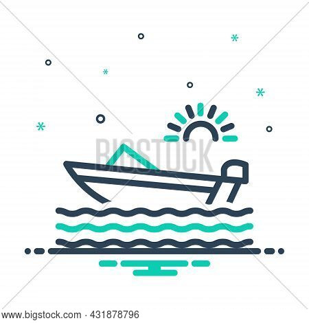Mix Icon For Boat Ferry Ship Marine Nautical Sailboat Transport Motorboat Vessel Passenger