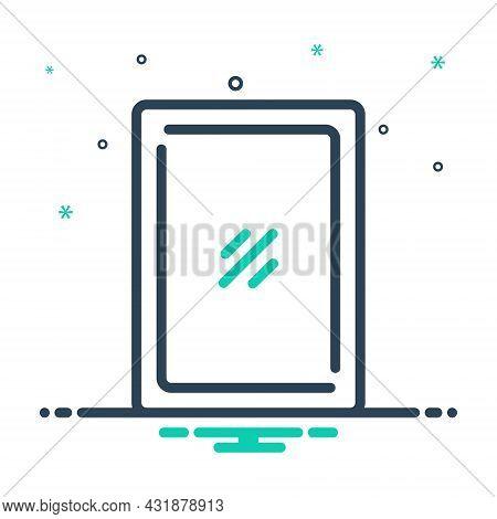 Mix Icon For Mirror Mirror Salon Looking-glass Round Shiny Optics Furniture Accessory Glasswork Glas