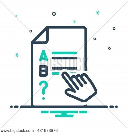 Mix Icon For Consider Mull Take-into-account Mull-over Presume Test Exam Choices Scheming Strategy T