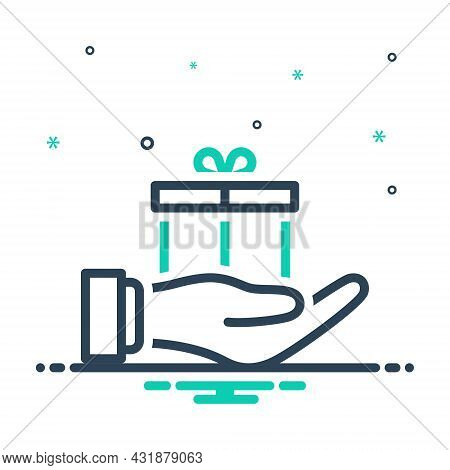 Mix Icon For For In-order-to Stand-for Instead-of Gift Offering Delivery Giftware Present