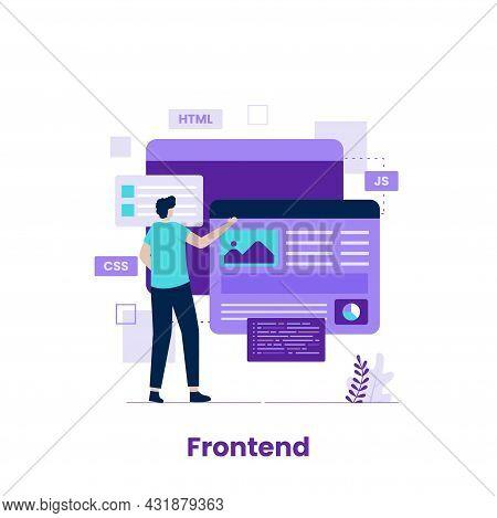 Frontend Developer Illustration Concept