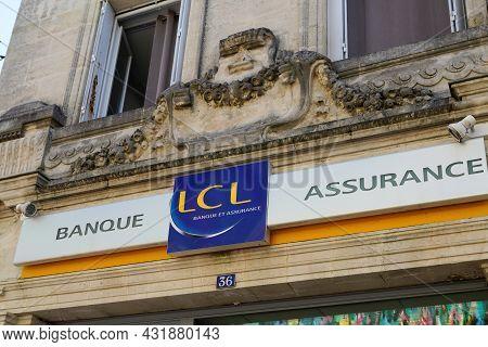 Bordeaux , Aquitaine  France - 08 30 2021 : Lcl Banque Et Assurance Logo Text And Brand French Sign