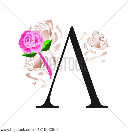 Simply Beauty Initial A Rose Letter Logo Vector Illustration