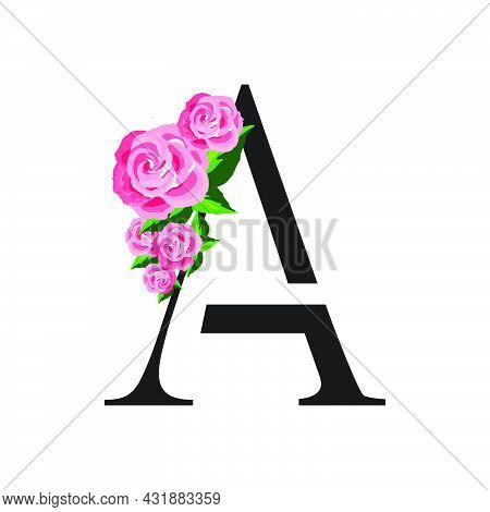 Simply Beauty Initial A Rose Letter Logo Vector Illustration For Wedding Spa Salon Etc