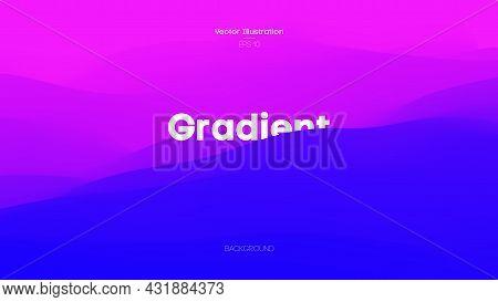 Cover Design Holographic Background. Digital Fluid Art. Color Wave In Purple Blue Color. Liquid Colo