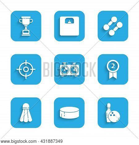 Set Time Chess Clock, Hockey Puck, Bowling Pin And Ball, Medal, Badminton Shuttlecock, Target Sport,