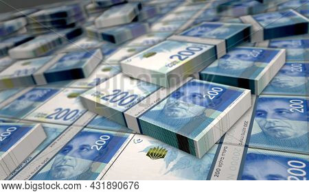 Israeli Shekel Money Banknotes Pack Illustration