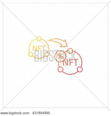 Ntf Resale Gradient Icon. Subsequent Percentage. Secondary Sale.agreement. Digitalization Concept. I