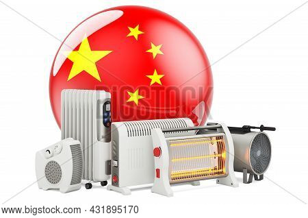Chinese Flag With Heating Devices. Manufacturing, Trading And Service Of Convection, Fan, Oil-filled