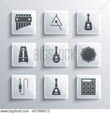 Set Balalaika, Drum Machine, Dial Knob Level, Guitar, Audio Jack, Metronome With Pendulum, Pan Flute