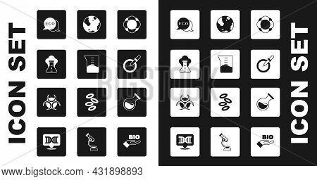 Set Molecule, Laboratory Glassware Or Beaker, Chemical Explosion, Label For Eco Healthy Food, Petri