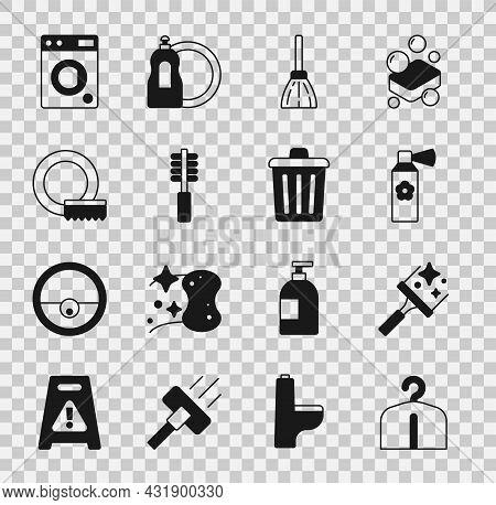 Set Hanger Wardrobe, Rubber Cleaner For Windows, Air Freshener Spray Bottle, Handle Broom, Toilet Br