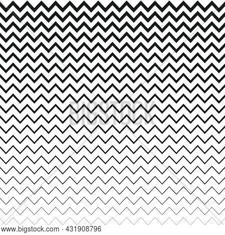 Black Zigzag Line Design On White Background. Simple And Modern Chevron Pattern
