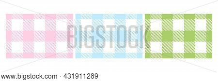 Colorful Lumberjack Plaid Seamless Pattern Set. Scottish Cage Wallpaper Collection. Simple Blue, Pin