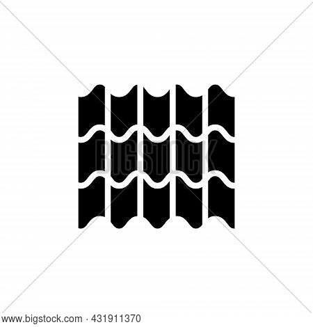 Weaving Material Glyph Icon. Fabric Feature. Textile Industry. Material Property. Black Symbol. Isol