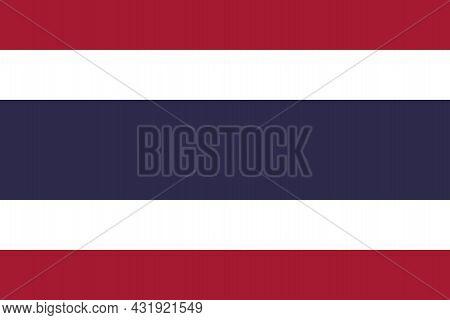 National Flag Kingdom Of Thailand - Vector, Siam, Trairanga