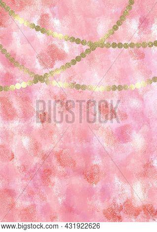 Background Pastel Magic Unicorns Girly Golden Lights, Backdrop