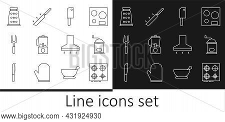 Set Line Gas Stove, Manual Coffee Grinder, Meat Chopper, Blender, Barbecue Fork, Grater, Kitchen Ext