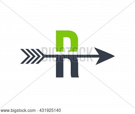 Financial Logo With R Letter Upward Arrow Concept. Initial R Letter Financial Marketing, Business An