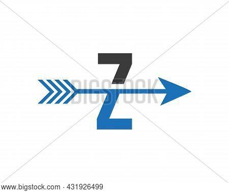 Financial Logo With Z Letter Upward Arrow Concept. Initial Z Letter Financial Marketing, Business An