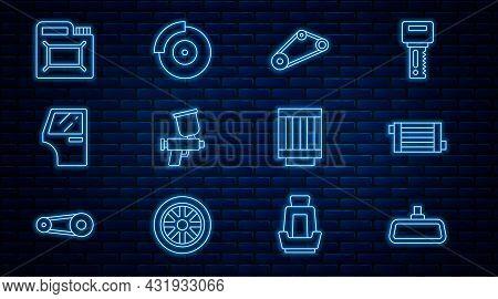 Set Line Car Mirror, Radiator Cooling System, Timing Belt Kit, Paint Spray Gun, Door, Canister For M