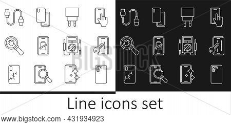 Set Line Smartphone, Glass Screen Protector, Charger, Battery Charge, System Bug, Usb Cable Cord, Mu