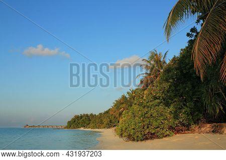 Beach Of Sun Island (nalaguraidhoo). South Ari Atoll, Maldives