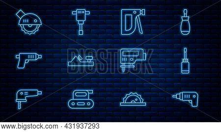 Set Line Electric Cordless Screwdriver, Screwdriver, Construction Stapler, Wood Plane Tool, Circular