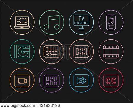 Set Line Subtitles, Play Video, Smart Tv, Music Equalizer, Vinyl Player With Vinyl Disk, Sound Or Au