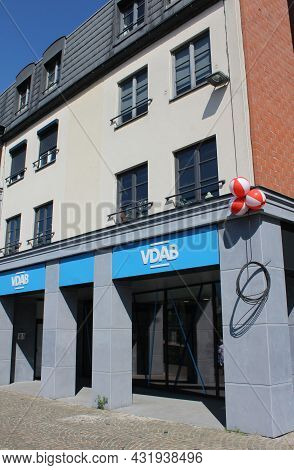 Aalst, Belgium, 25 August 2021: Exterior View Of A Vdab Office. The Vdab Is A Flemish Government Ser