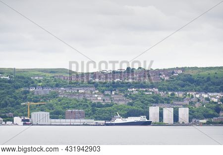 High Rise Council Flat In Deprived Poor Housing Estate In Glasgow
