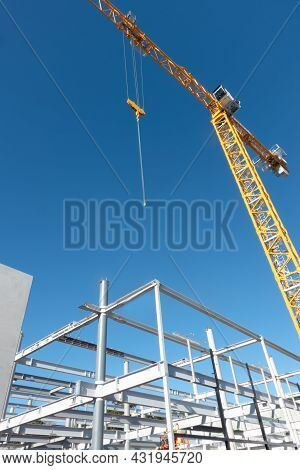 Structural Steel Framing And Crane Constructions Site, Taurranga New Zealand.