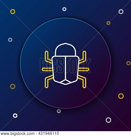 Line System Bug Concept Icon Isolated On Blue Background. Code Bug Concept. Bug In The System. Bug S