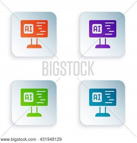Color Software, Web Developer Programming Code Icon Isolated On White Background. Javascript Compute