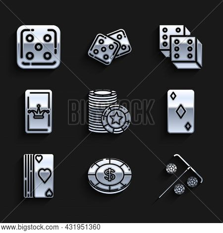 Set Casino Chips, With Dollar Symbol, Stick For, Playing Card Diamonds, Deck Of Playing Cards, Joker