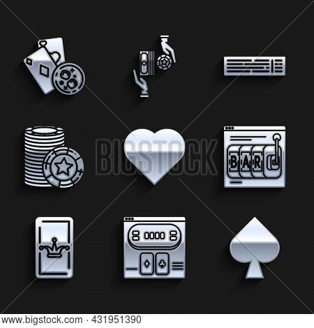 Set Playing Card With Heart Symbol, Online Poker Table Game, Spades, Slot Machine, Joker Playing, Ca