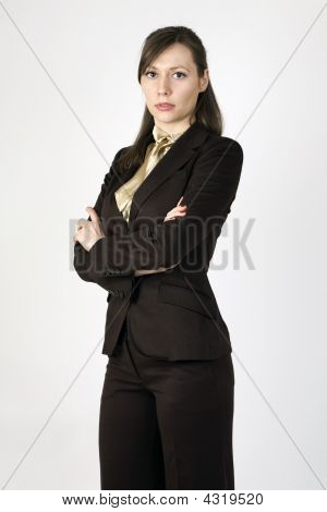 Young Businesswoman With Crossed Arms