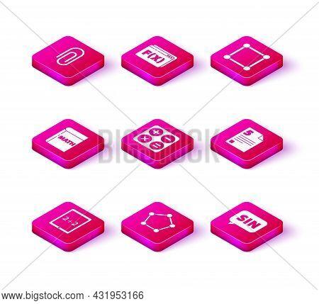 Set Tablet With Calculator, Geometric Figure Pentagonal Prism, Book Word Mathematics, Calculator, Ma